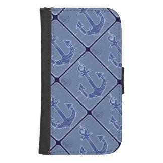 sailor anchors pattern stylish samsung s4 wallet case