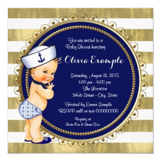 Sailor Boys Nautical Baby Shower Card