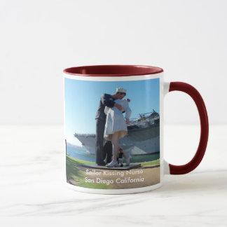 Sailor Kissing Nurse in San Diego Mug