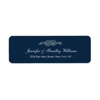 Sailor's Knot -Wedding Return Address Label