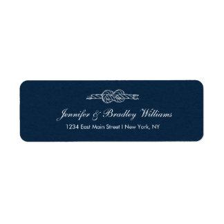 Sailor's Knot -Wedding Return Address Label