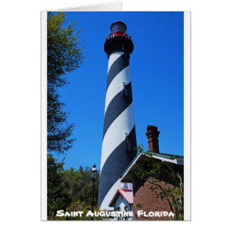 Saint Augustine Florida Lighthouse Card