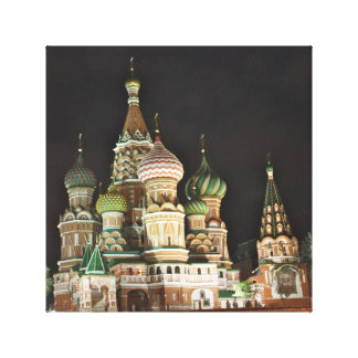 Saint Basil's Catherdral at Night, Moscow Canvas Print