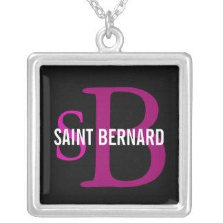Saint Bernard Breed Monogram Personalized Necklace