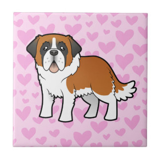Saint Bernard Love Small Square Tile