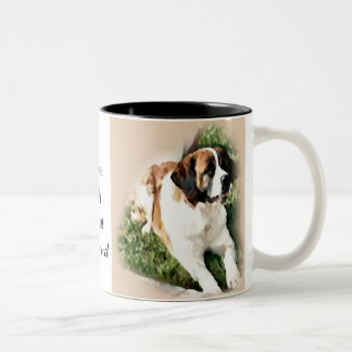 Saint Bernard Lovers Gifts Two-Tone Mug