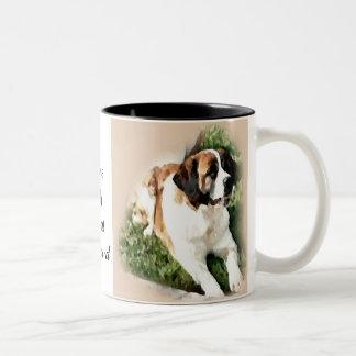 Saint Bernard Lovers Gifts Two-Tone Coffee Mug