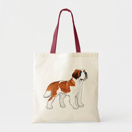 Saint Bernard Puppy Dog Love Canine Tote Bag