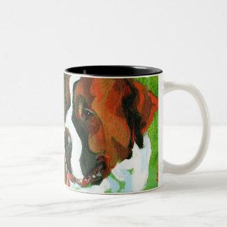 Saint Bernard Two-Tone Coffee Mug