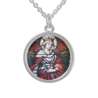 saint chain sterling silver necklace