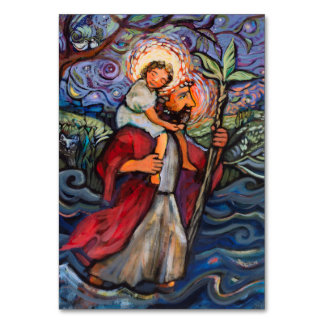 Saint Christopher Prayer Card