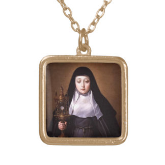 Saint Clare of Assisi Necklace