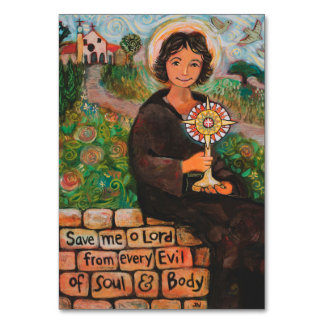 Saint Clare of Assisi Prayer Card