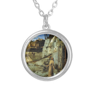 Saint Francis in the Desert by Giovanni Bellini Personalized Necklace