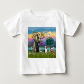 Saint Francis with Animals - custumizable Baby T-Shirt