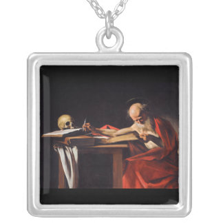 Saint Jerome Writing by Michelangelo Caravaggio Custom Necklace