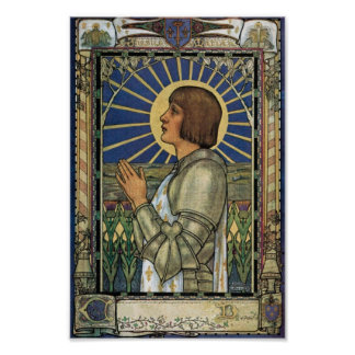 Saint Joan of Arc Stained Glass Image Poster