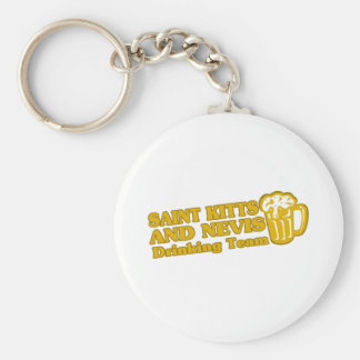 SAINT KITTS AND NEVIS BASIC ROUND BUTTON KEY RING