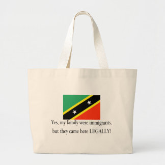 Saint Kitts and Nevis Large Tote Bag