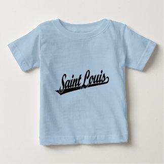 Saint Louis script logo in black Baby T-Shirt