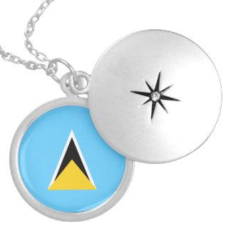 Saint Lucia Flag Necklace