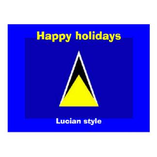 Saint Lucia holiday Postcard