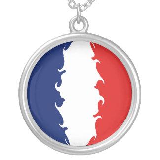 Saint Martin Gnarly Flag Round Pendant Necklace