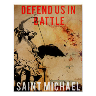 Saint Michael - Defend us in Battle! - Poster