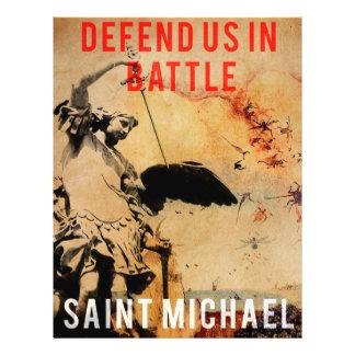 Saint Michael - Defend us in Battle! - Poster Flyer
