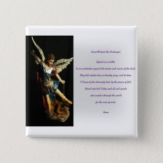 Saint Michael Prayer 15 Cm Square Badge