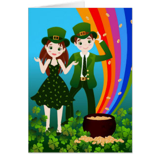 Saint Patrick Day Kids Party Card