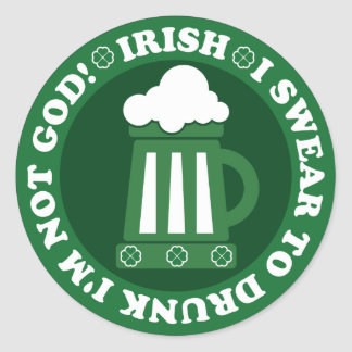 Saint Patrick's Day Classic Round Sticker
