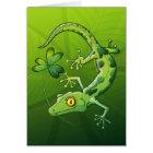 Saint Patrick's Day Gecko Card