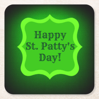 Saint Patrick's Day Wish Square Paper Coaster