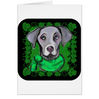 SAINT PATTY WEIMARANER CARD