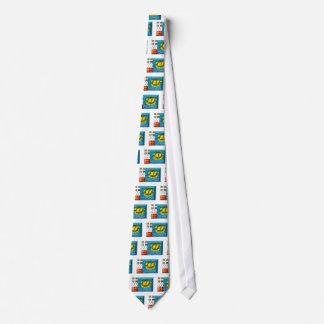 Saint-Pierre and Miquelon Flag Jewel Tie