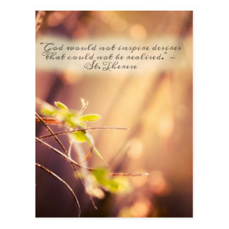 Saint Therese Desires Quote Postcard