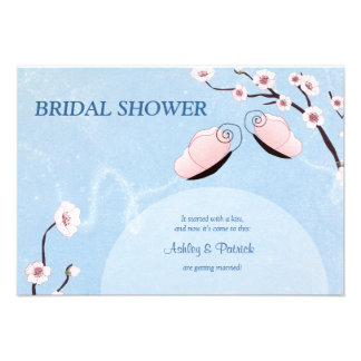 Sakura and Butterflies Bridal Shower Invitation