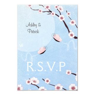 Sakura and Love Butterflies RSVP Card