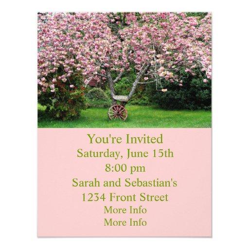 Sakura and Wagon Wheel Invitation