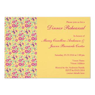 Sakura Batik Pattern Rehearsal Dinner Invitation