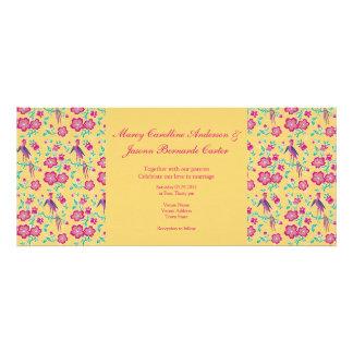 Sakura Batik Stripes yellow Long Wedding Invite