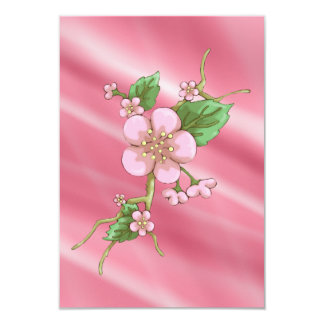 Sakura Blossoms 9 Cm X 13 Cm Invitation Card