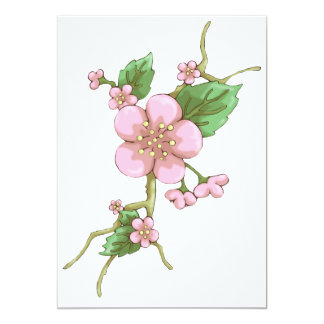 "Sakura Blossoms 5"" X 7"" Invitation Card"