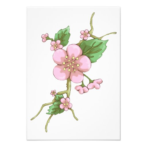 Sakura Blossoms Custom Invitations