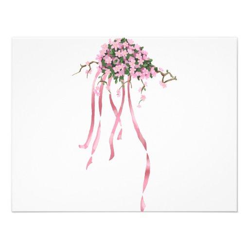 Sakura Bouquet Personalized Announcement