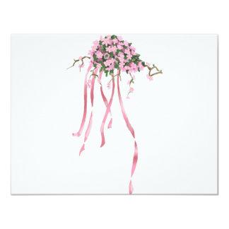 Sakura Bouquet 4.25x5.5 Paper Invitation Card