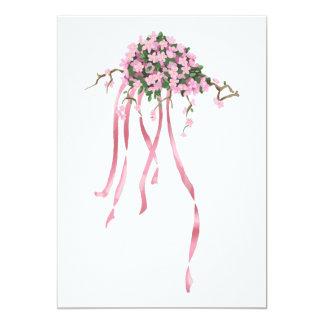 Sakura Bouquet 13 Cm X 18 Cm Invitation Card