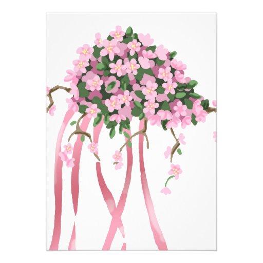 Sakura Bouquet Custom Announcements