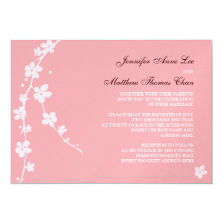 Sakura Branch Silhouette Invitation